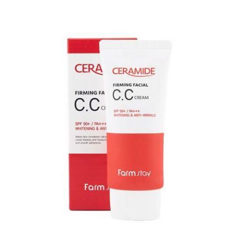 959266 FarmStay Укрепляющий СС крем с керамидами Ceramide Firming Facial CC Cream