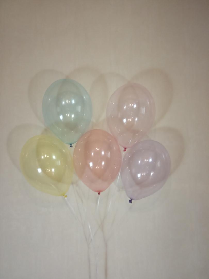 Ассорти Хрустальных латексных шаров с гелием