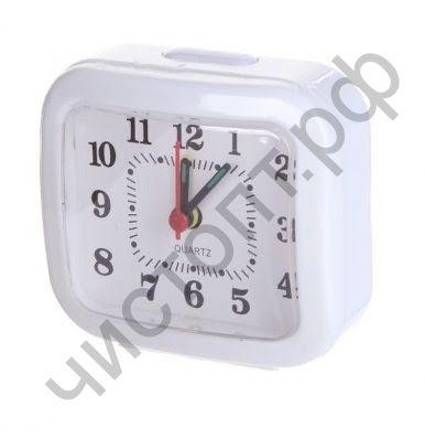 """Часы -будильник настол. Perfeo Quartz """"PF-TC-004"""", прямоугольные 8*7,5 см, белые"""
