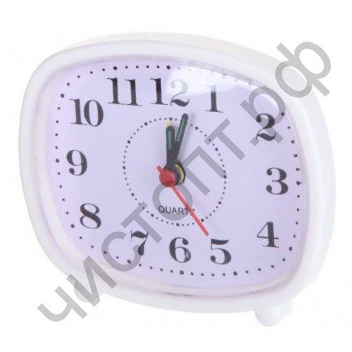 """Часы -будильник настол. Perfeo Quartz """"PF-TC-005"""", прямоугольные 10*8,5 см, белые"""