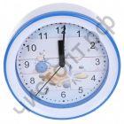 "Часы -будильник настол. Perfeo Quartz ""PF-TC-009"", круглые диам. 15,3 см, подвес на стену, ракушка"