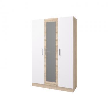 Шкаф 3-х створчатый Леси (Сонома-Белый)