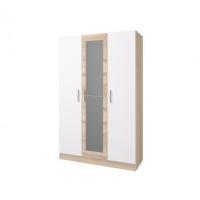 Шкаф 3-х створчатый Леси в цвете Сонома-Белый
