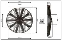 """Осевой вентилятор, 14"""" дюймов, 24 Вольт, 80 ватт,  Всасывающий (PULL) STR158"""