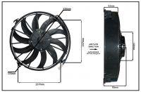 """Осевой вентилятор 12"""" дюймов, 170 Вт, 12 В, Всасывающий (PULL), STR 117"""
