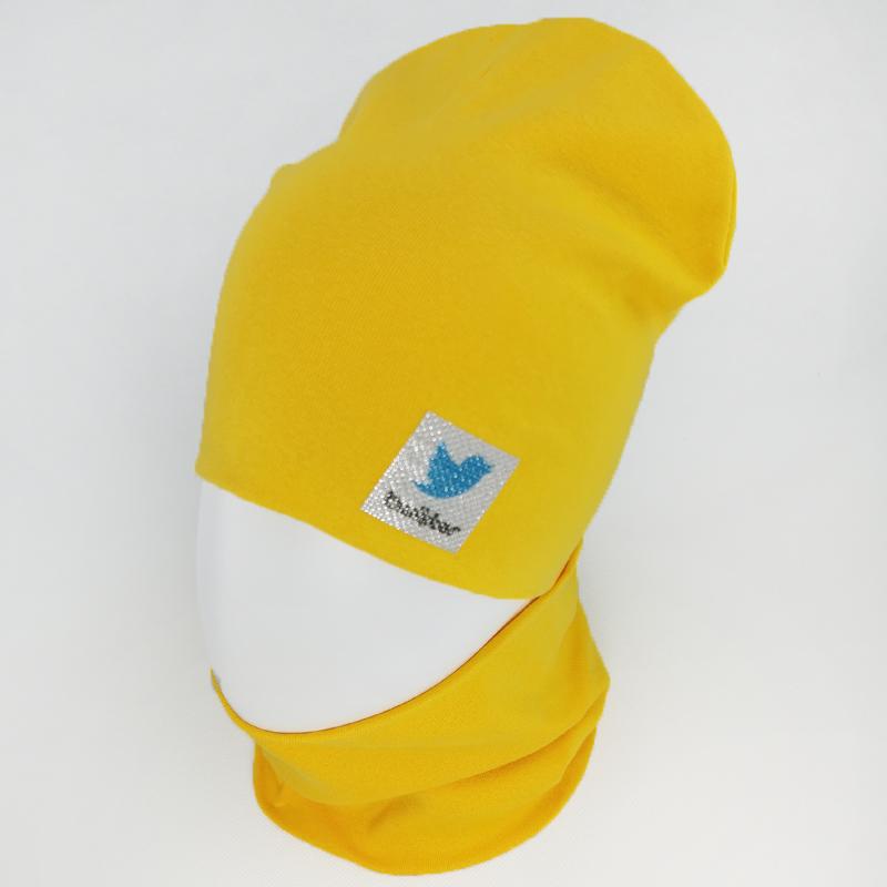вд1621-68 Комплект трикотажный двойной шапка/снуд TWTR ярко-желтый