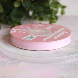 Лента капроновая (органза) 6 мм, нежно-розовый
