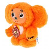Озвученная мягкая игрушка Чебурашка с оранжевым мехом мехом, 14 см