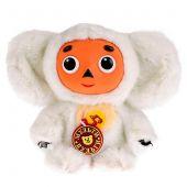 Озвученная мягкая игрушка Чебурашка с белым мехом, 14 см