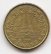 10 евроцентов Словения 2007 из обращения