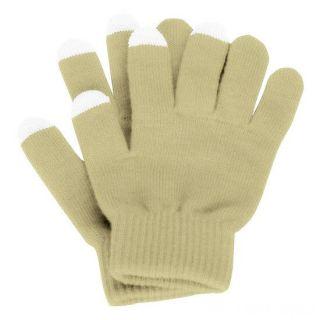 Перчатки для сенсорных экранов, Бежевый