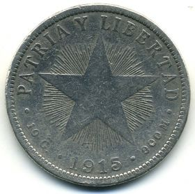 Куба 40 сентаво 1915