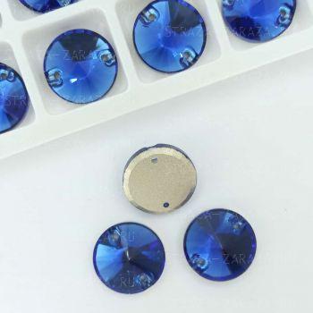 DeLuxe Пришивные Стразы Capri_Blue Риволи 10 мм