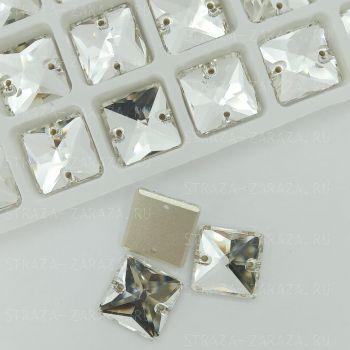 DeLuxe Пришивные Стразы Crystal Квадрат 12 мм