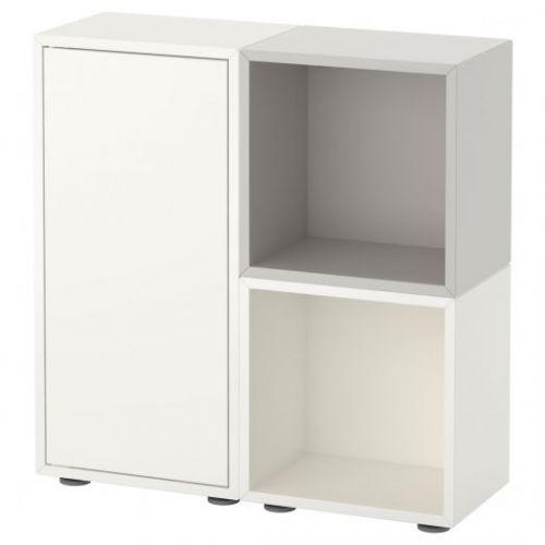 EKET ЭКЕТ, Комбинация шкафов с ножками, белый/серый, 70x25x72 см - 891.907.37