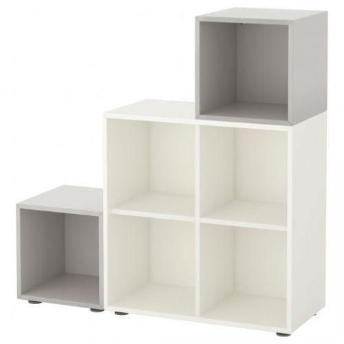 EKET ЭКЕТ, Комбинация шкафов с ножками, белый/светло-серый, 105x35x107 см - 291.908.58