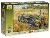 Сборные солдатики - Советский мотоцикл М-72 с минометом.