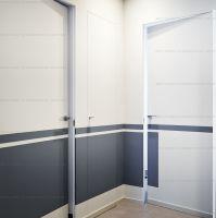 Дверь ПОД ПОКРАСКУ ВНУТРЕННЕГО открывания дверь невидимка.