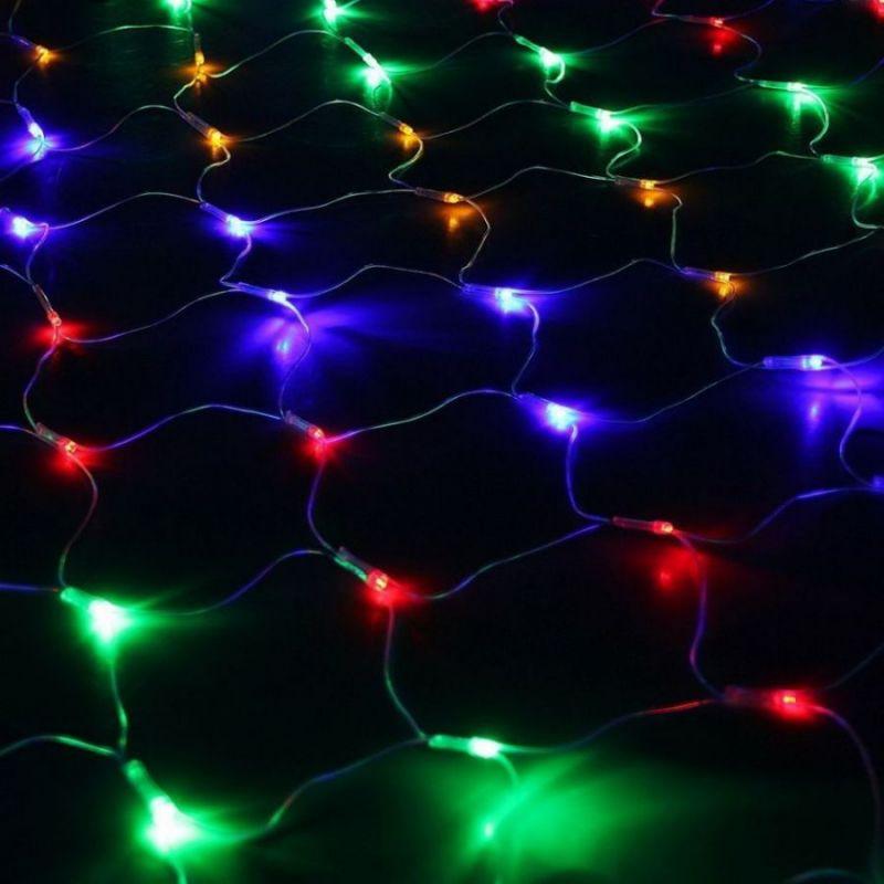 Электрогирлянда «Сетка» 400 LED, 2.5*2.5 М, Цвет Свечения Разноцветный