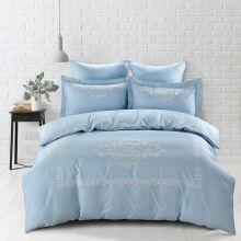 Комплект постельного белья  Сатин вышивка  REVENA евро   Арт.5126/4