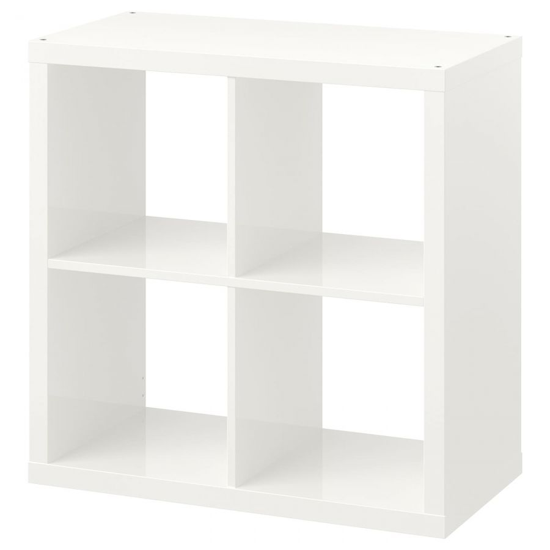 KALLAX КАЛЛАКС, Стеллаж, глянцевый белый, 77x77 см - 803.788.28