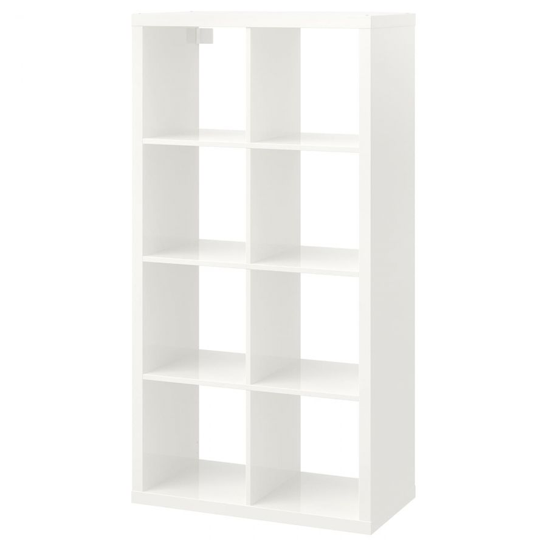 KALLAX КАЛЛАКС, Стеллаж, глянцевый белый, 77x147 см - 403.788.30
