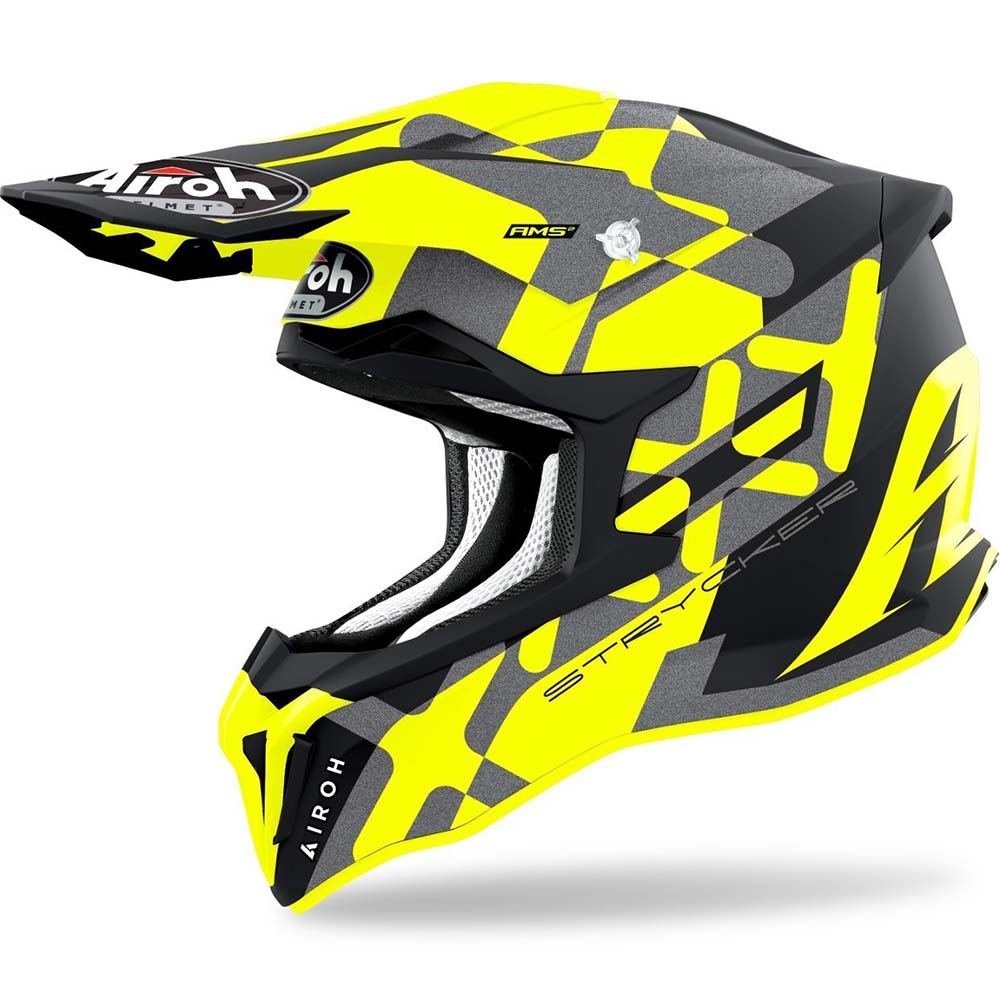 Airoh Strycker XXX Yellow Matt шлем для мотокросса и эндуро