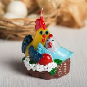 Форма силиконовая для мыла и свечей Куриная семья