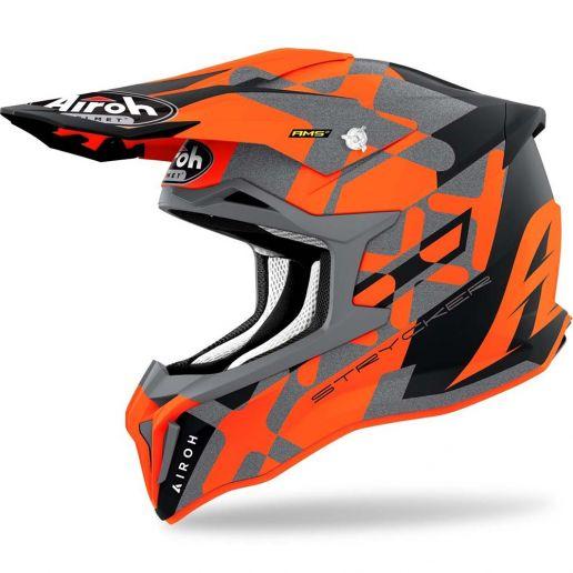 Airoh Strycker XXX Orange Matt шлем для мотокросса и эндуро