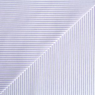 Хлопок - Полоска мелкая сиреневая 50x40