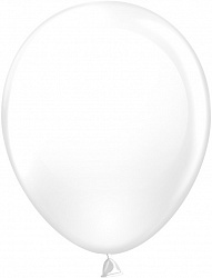 Шар (10''/25 см) Белый, пастель, 100 шт.