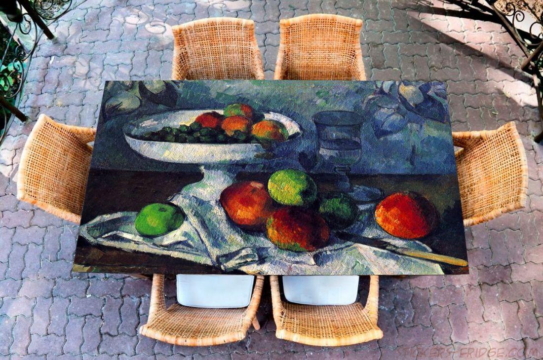Наклейка на стол - Ваза с фруктами
