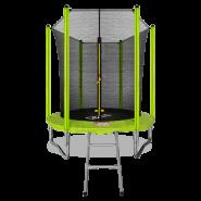 Батут Arland 6FT с внутренней страховочной сеткой и лестницей (Light green)
