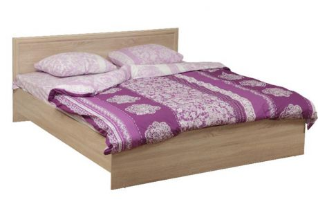 Кровать двуспальная 21.52 - 02 Фриз с настилом (1200)