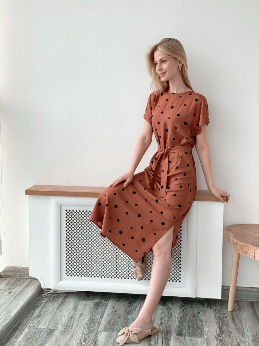 1878 Платье из вискозы длины миди