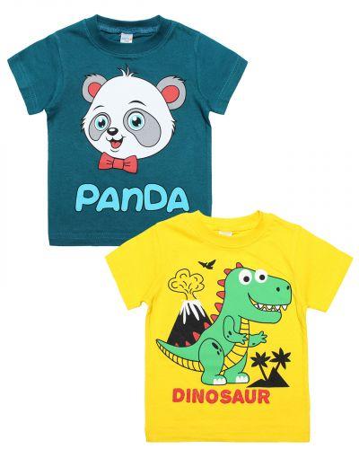 "Футболка для мальчика 1-4 года Dias kids ""Dino & Panda"""