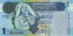 ЛИВИЯ - 1  динар 2004 года МУАММАР КАДДАФИ. UNC. ПРЕСС. Мультилот