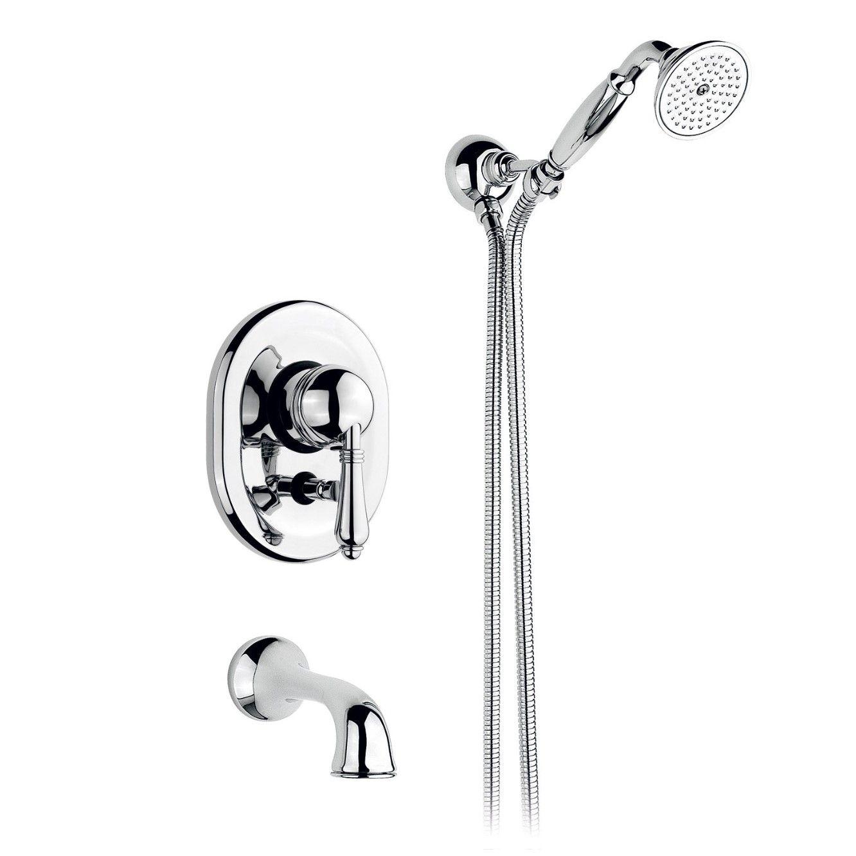 Встраиваемый смеситель с ручным душем и изливом для набора ванны Nicolazzi 3400 ФОТО