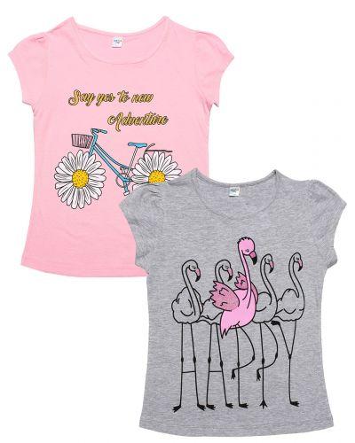 """Футболка для девочек Dias kids 8-12 лет """"Flamingos"""""""