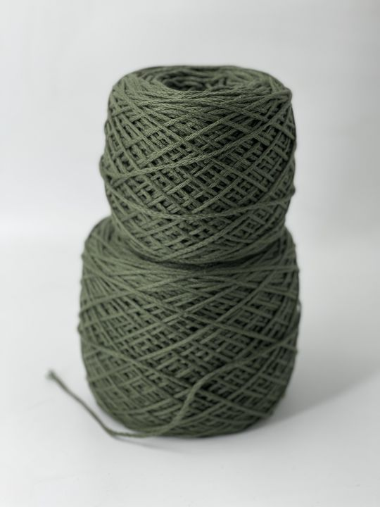 100% хлопок шнурок цвет зелёный