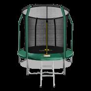 Батут Arland 8FT премиум с внутренней страховочной сеткой и лестницей (Dark green)