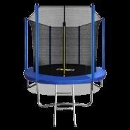 Батут Arland 8FT синий с внутренней страховочной сеткой и лестницей