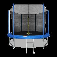 Батут Arland 10FT синий с внутренней страховочной сеткой и лестницей