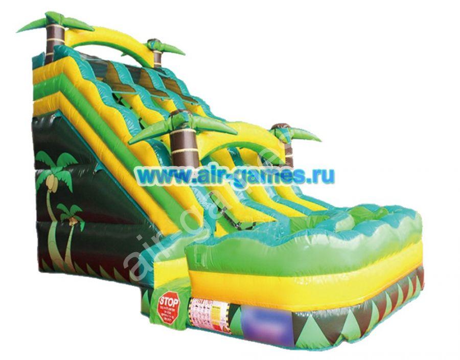 Надувной батут с бассейном «ДЖУНГЛИ» 9*6*6.8