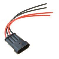 RK04108 * Разъем 4-х контактный штыревой с проводами сечением 0,75 кв.мм, длина 120 мм