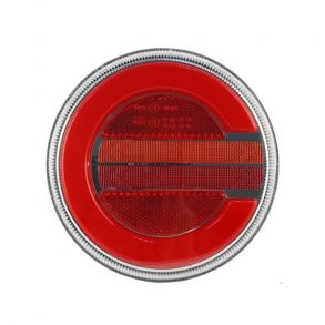 Левый круглый светодиодный фонарь универсальный 7,8 Вт для прицепов