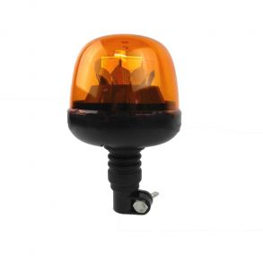 Проблесковый маячок на кронштейне DIN 10 LED желтый