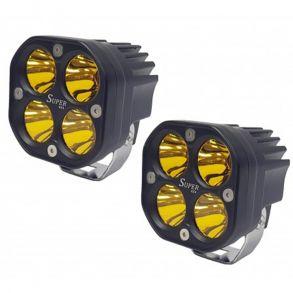 Светодиодные Фары 80W дальнего света Желтый свет (Комплект 2 шт)