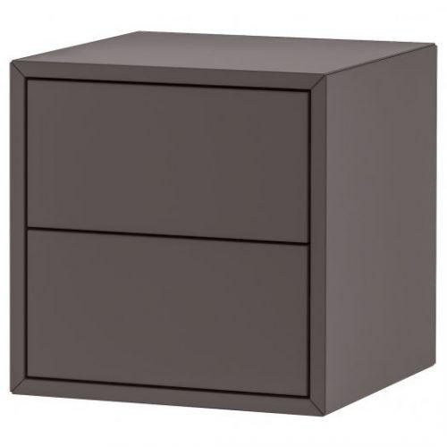 EKET ЭКЕТ, Навесной шкаф с 2 ящиками, темно-серый, 35x35x35 см - 893.293.86