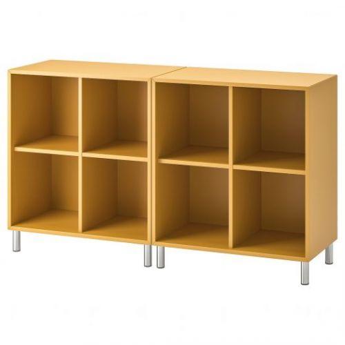 EKET ЭКЕТ, Комбинация шкафов с ножками, золотисто-коричневый, 140x35x80 см - 992.864.85